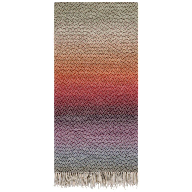 MissoniHome Pascal Throw in Multicolor Chevron Pattern For Sale