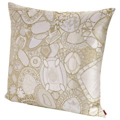 MissoniHome Pessac Cushion in Gold and Ivory Jewel Print
