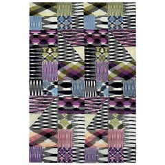MissoniHome Pritzwalk Rug in Iridescent Multi-Color Wool Patchwork