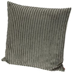 Missoni Home Rabat Cushion in Textured Green Stripes