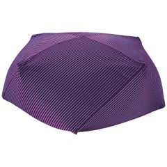 Missoni Home Rafah Diamante Pouf with Textured Purple Cotton Fabric