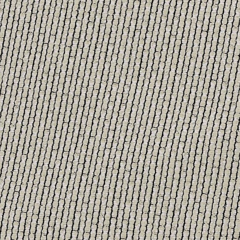 Modern MissoniHome Reserva Cushion in Textured Black & White Cotton For Sale