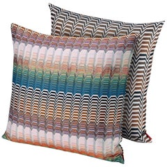MissoniHome Santa Fe Seattle Cushion Set in Multicolor Greek Key Pattern