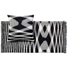 MissoniHome Sigmund Throw & Cushion Set in Black & White Flame Print