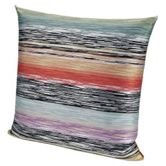 MissoniHome Strasburgo Cushion in Multi-Color Flame Stitch Print
