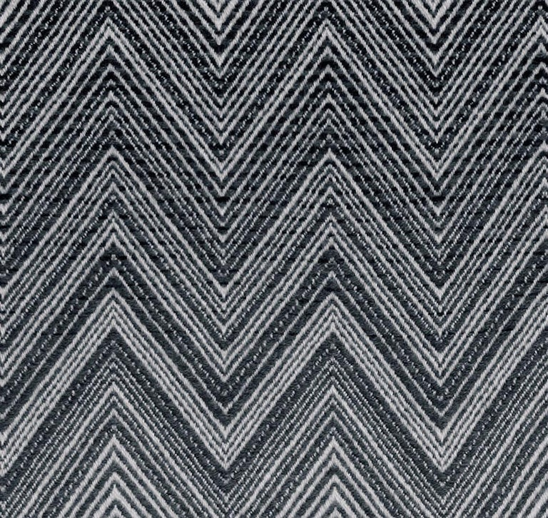 Modern MissoniHome Timmy Throw in Black & White Chevron Print For Sale