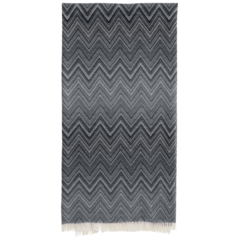 Missoni Home Timmy Throw in Black & White Chevron Print