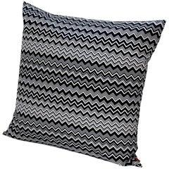 Missoni Home Tobago Cushion in Black and White Chevron Pattern