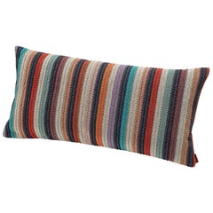 MissoniHome Vanuatu Striped Woven Cushion in Earth Tones