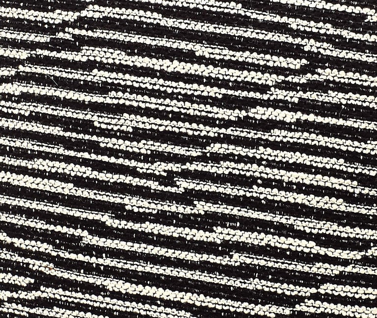 Modern MissoniHome Varberg Cushion in Jacquard with White & Black Stripe Patchwork For Sale