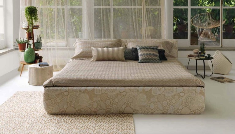 Italian MissoniHome Varsavia Cushion in Black and White Chevron Pattern For Sale