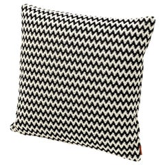 MissoniHome Varsavia Cushion in Black and White Chevron Pattern