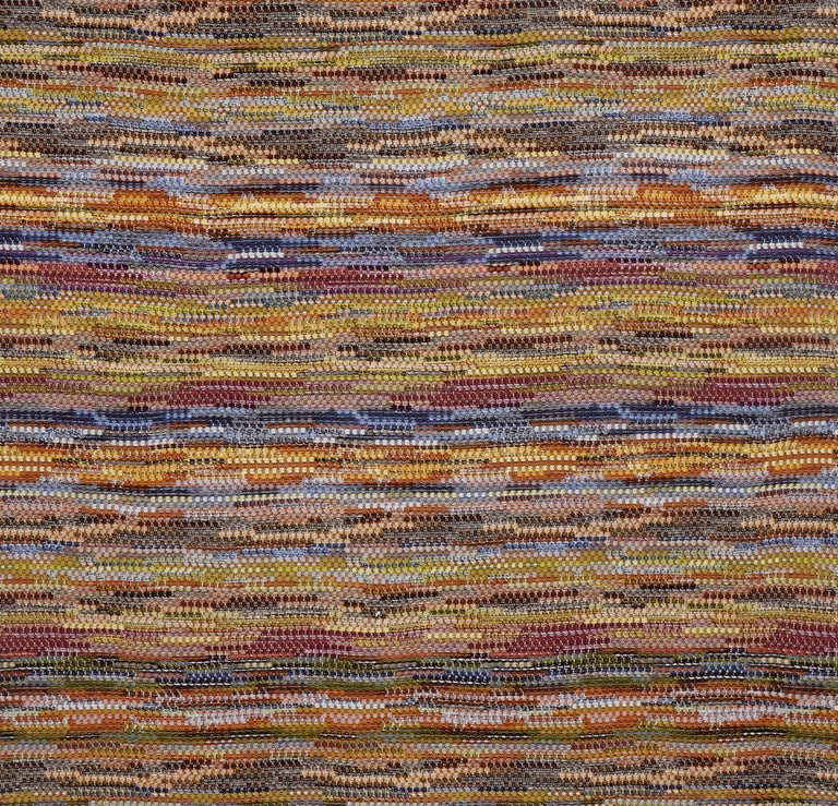 Modern MissoniHome Venere Throw in Multi-Color Woven Wool with Knobbly Effect For Sale