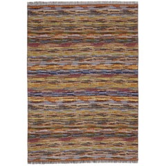 MissoniHome Venere Throw in Multi-Color Woven Wool with Knobbly Effect