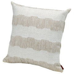 MissoniHome Wasiri Indoor & Outdoor Cushion with Beige Greek Key Pattern