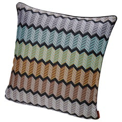 Missonihome Waterford Jewel-Tone Chevron Cushion with Stripes