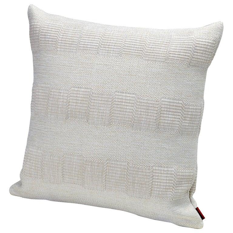Missonihome Weda Indoor and Outdoor Cushion with Greek Key Pattern For Sale