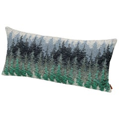 Missonihome Weggis Jacquard Fabric Cushion with Forest Motif