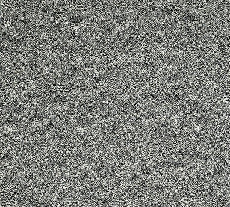 Modern MissoniHome Weltenburg Chevron Cushion in Black and White For Sale