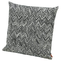 MissoniHome Weltenburg Chevron Cushion in Black and White