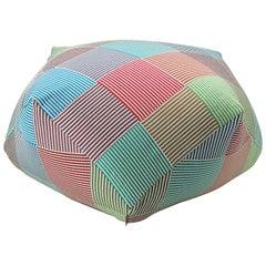 MissoniHome Wembley Diamante Striped Mosaic Multicolored Pouf