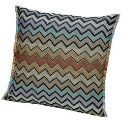 Missoni Home Westmeath Chevron Cushion in Earth Tones with Gold Lurex