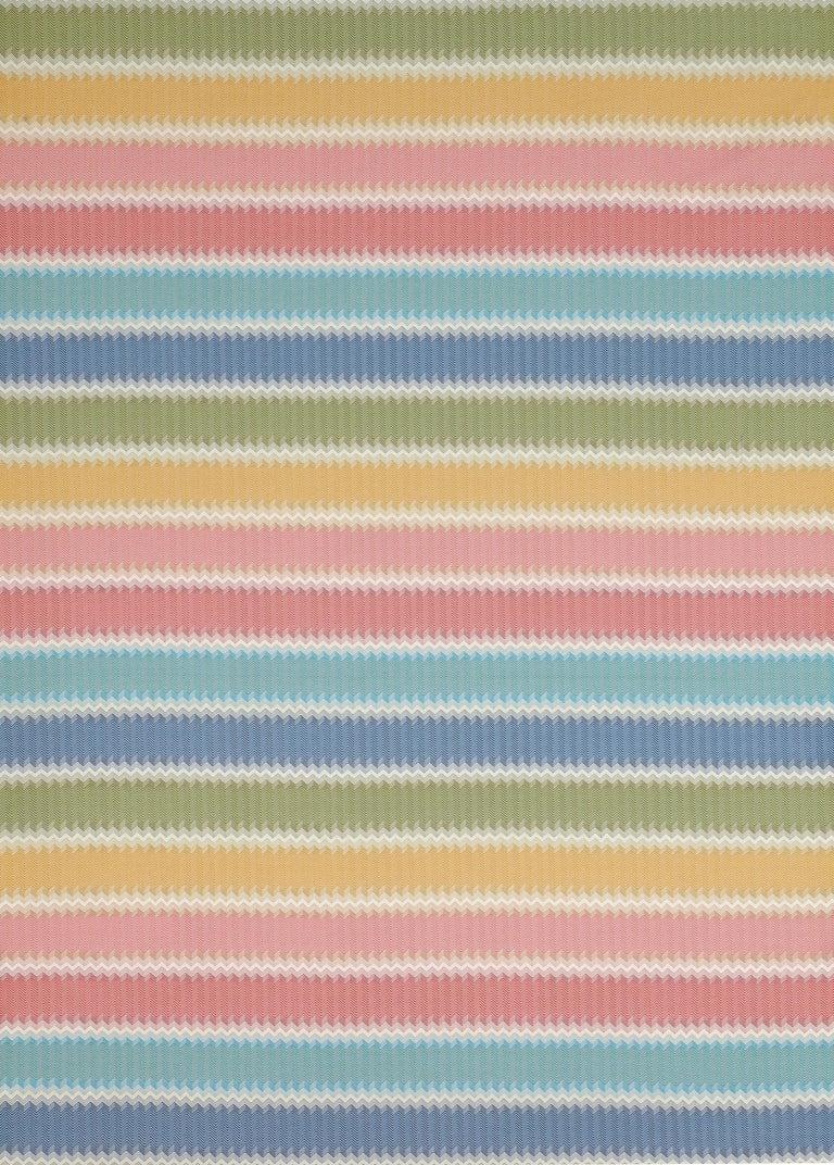 MissoniHome's iconic chevron pattern in soft, multi-color tones; 95/5 insert fill.