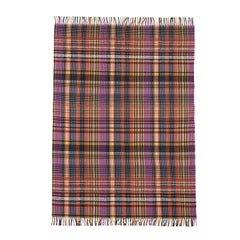 MissoniHome Whitaker Wool Plaid Striped Throw with Fringe