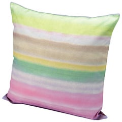 MissoniHome Whitby Watercolor Ombré Cushion on Linen Canvas