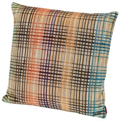 MissoniHome Whittier Crushed Velvet Cushion in Plaid