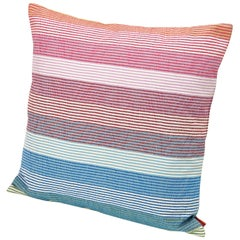 MissoniHome Wiler Multicolored Striped Cushion