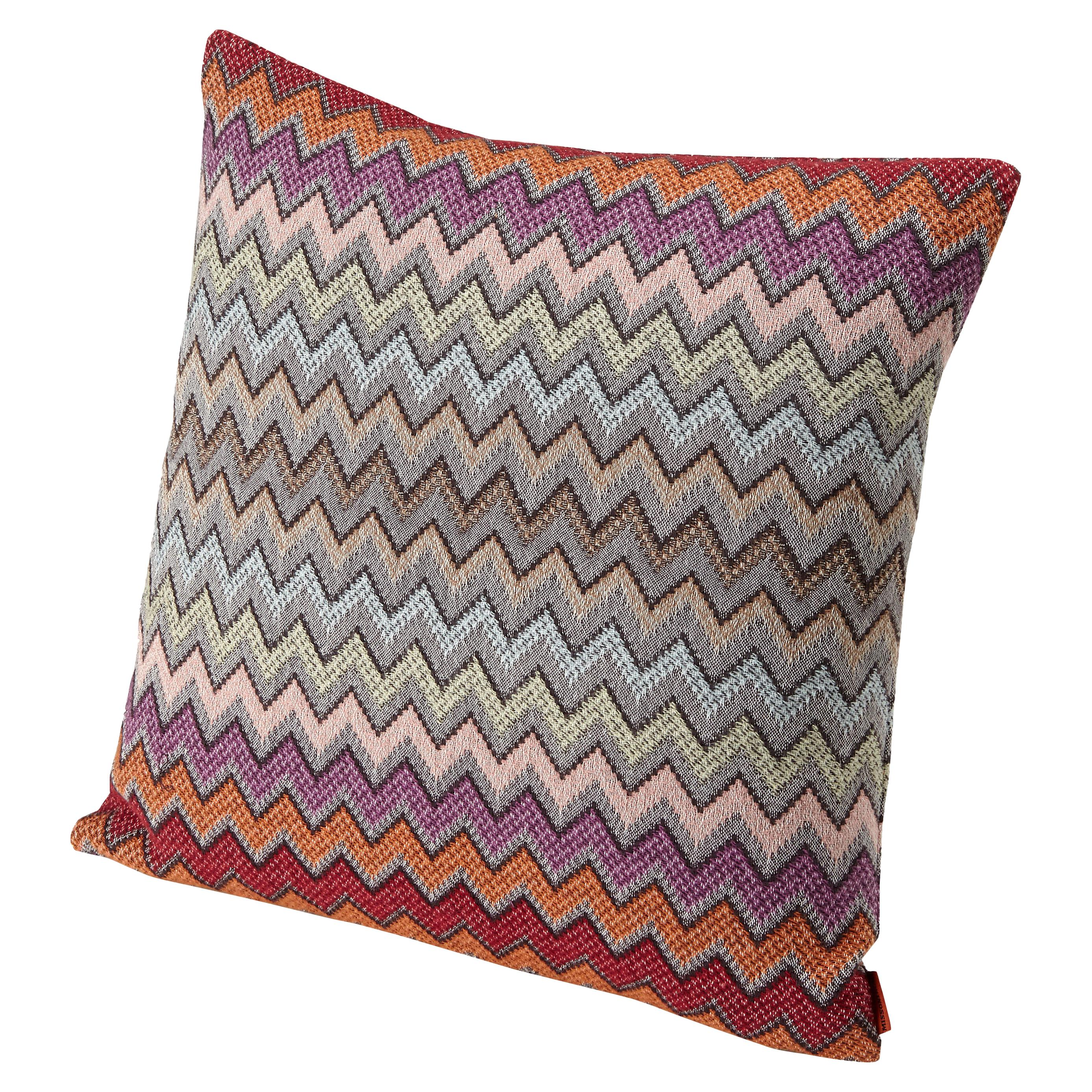 Missoni Home William Chevron Cushion in Pink and Gray