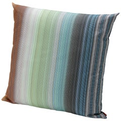 Missonihome Wonga Large Indoor & Outdoor Cushion in Multicolored Ombré Strip