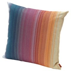 MissoniHome Wonga Small Indoor & Outdoor Cushion in Multicolored Ombré Stripe