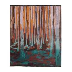 Missonihome Woodrow Woven Earth-Toned Throw with Forest Motif
