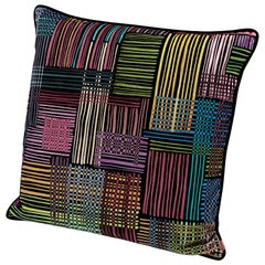 Missonihome Woodstock Mosaic Striped Multicolored Cushion