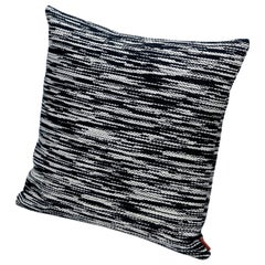 MissoniHome Zermatt Cushion with Black and White Flame Stitch Pattern