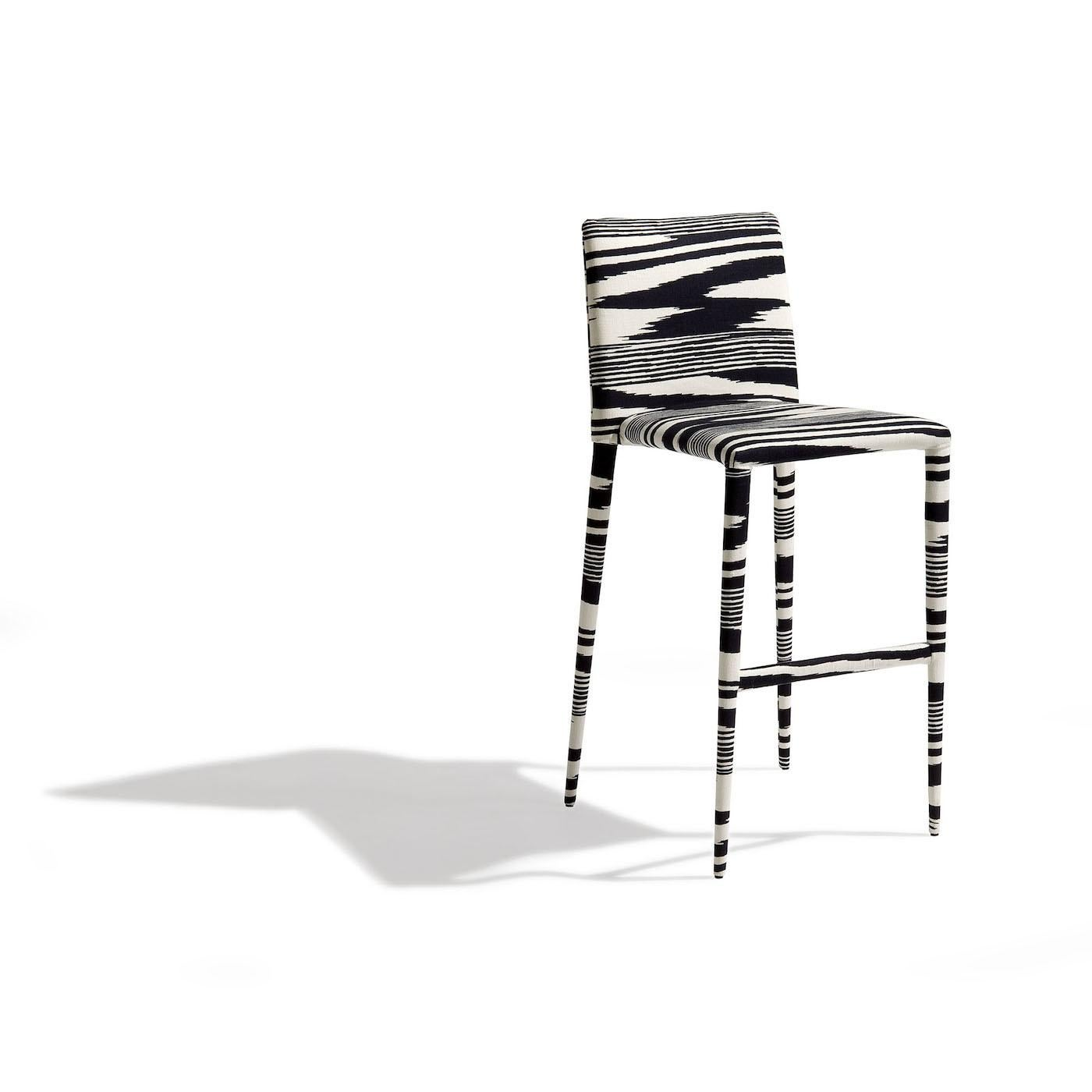 Mister Black And White Bar Stool By MissoniHome