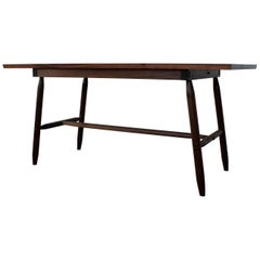 Misterioso Dining Table in Walnut with Hand Shaped Base In Stock