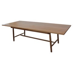 Misterioso Dining Table in White Oak with Hand Shaped Base