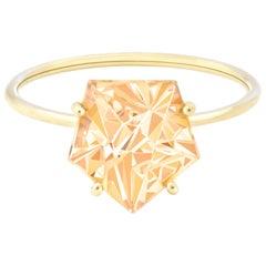 Misui 18 Karat Yellow Gold 2 Carat Citrine Gemstone Ring