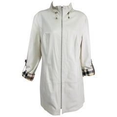 Misuri Firenze Buttery Soft Ivory Leather Reversible Jacket