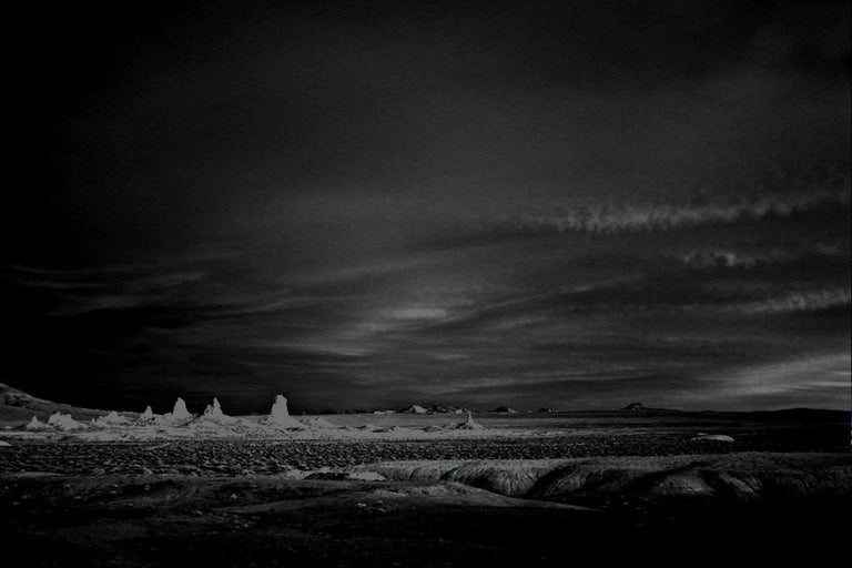 Mitch Dobrowner Black and White Photograph - Dusk, Trona