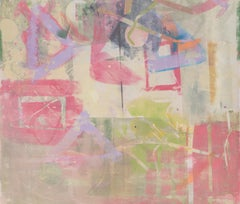 Large Abstract Monotype by Mitch Lyons