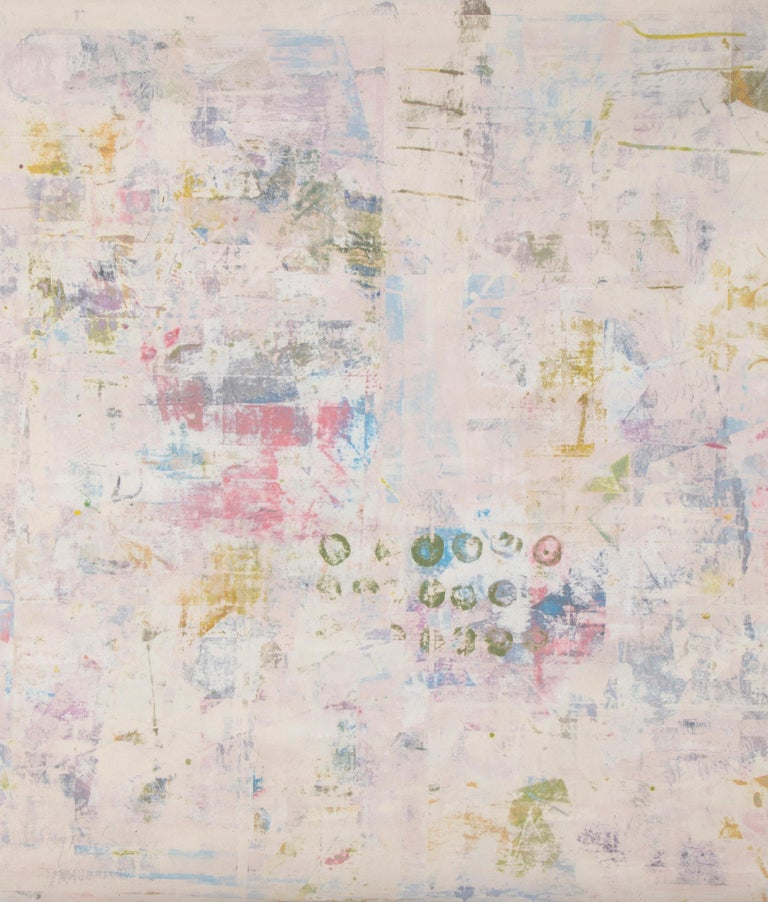 A large, unique print on canvas by American Artist, Mitch Lyons (1938-2018), signed lower right.  The canvas is unstretched and will be shipped rolled in a tube.  Mitch Lyons earned his Masters of Fine Arts in Ceramics from Tyler School of Art, and