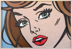 We Could Be , Pop Art, Birch Wood, Dimensional, Female, Figurative, Brunette