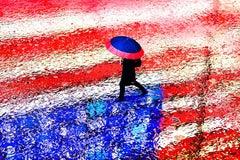 American Flag in the Rain