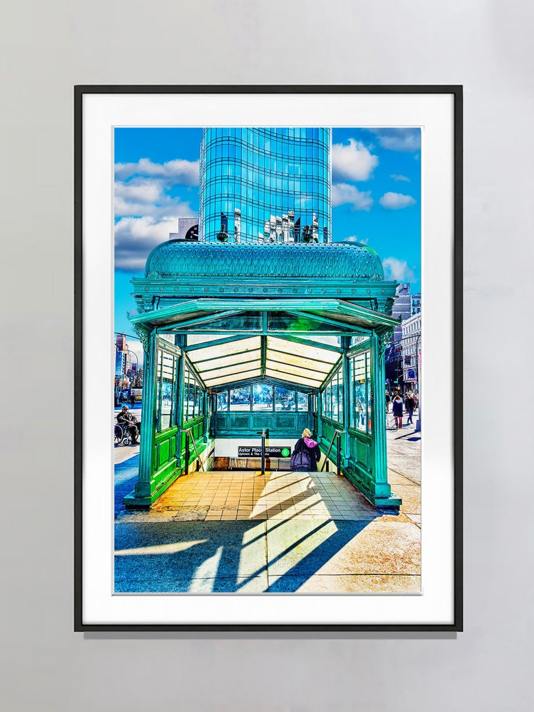 Astor Place Subway Kiosk, Cooper Union Station - Photograph by Mitchell Funk