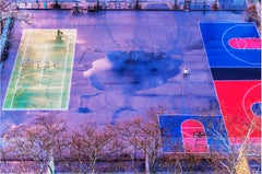 Basketball Court and New York City Park after Rain