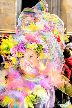 Beautiful Flower Woman on Fifth Avenue Easter Parade